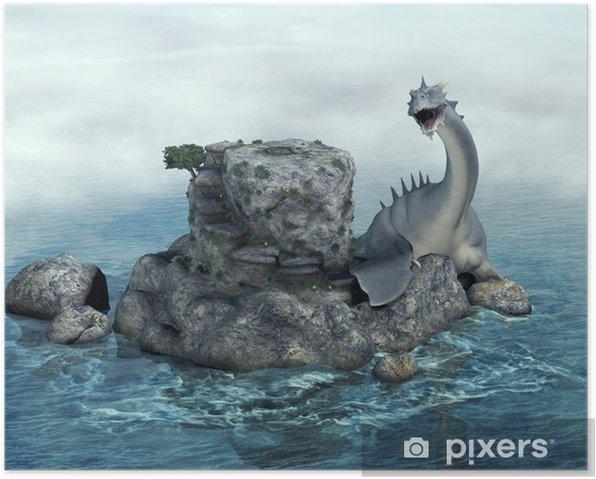 Poster Seamonster - Drachen