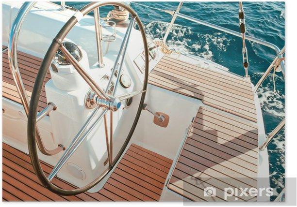 Poster Segelboot Cockpit - Boote