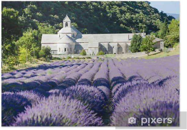 Poster Senanque Abtei mit Lavendelfeld, Provence, Frankreich - Themen
