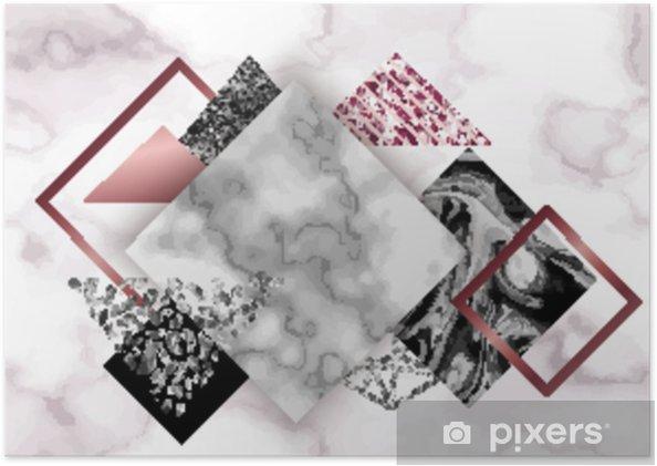 Poster Sfondo Di Marmo Rosa In Stile Minimalista Alla Moda