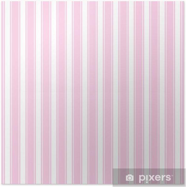 Poster Sfondo Rosa Bianco A Righe Senza Soluzione Di Continuità Ripetibile Vettore