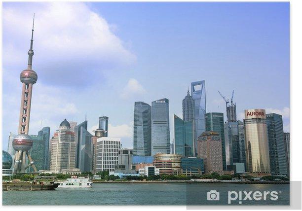 Poster SHANGHAI - Juni 15: Shanghai Pudong Skyline-Blick aus dem Bund - - Sonstige