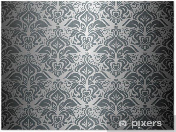 Poster Silber Schwarz Tapete Hintergrund Pixers Wir Leben Um