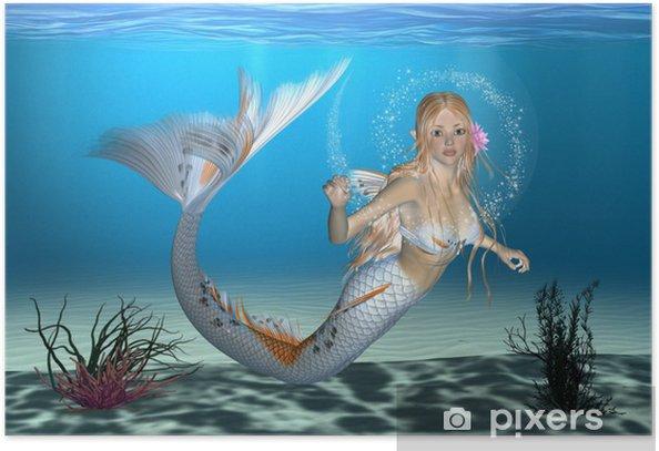Poster Sirena - Spazio da decorare