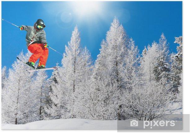 Poster Ski-Spaß - Skisport