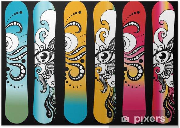 Poster Snowboard design - Wintersport