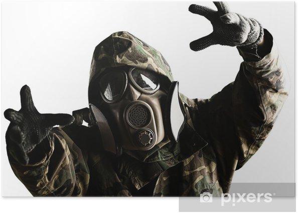 Poster Soldat mit Maske - Themen