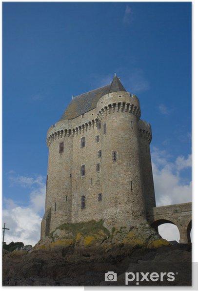 Poster Solidor Turm, la Tour Solidor, Saint Malo, Frankreich - Europa