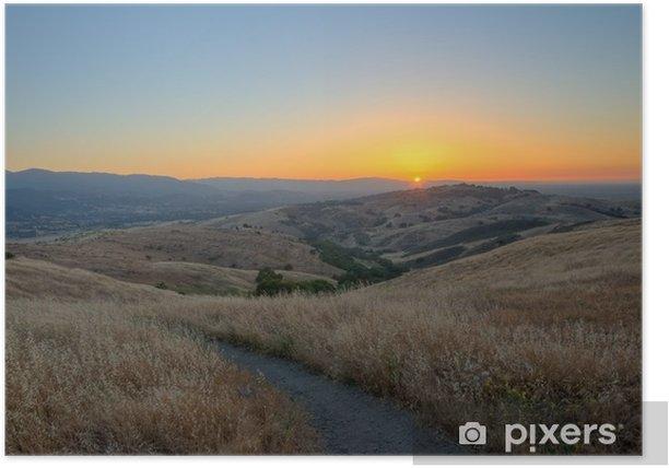 Poster Sonnenuntergang auf Silicon Valley - Amerika