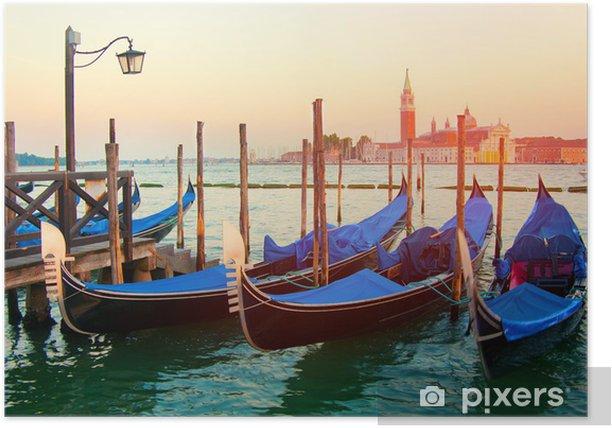 Poster Sonnenuntergang in Venedig - Europäische Städte