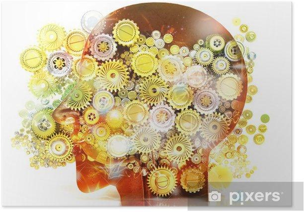Poster Speicher, Psychologie, Genie, Ideen, Kreativität, Mechanismen - Körperteile