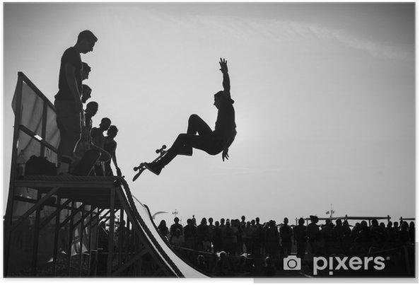 Poster Sprung - Skateboarding