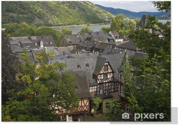 Poster Stadt Bacharach am Mittelrhein - Urlaub