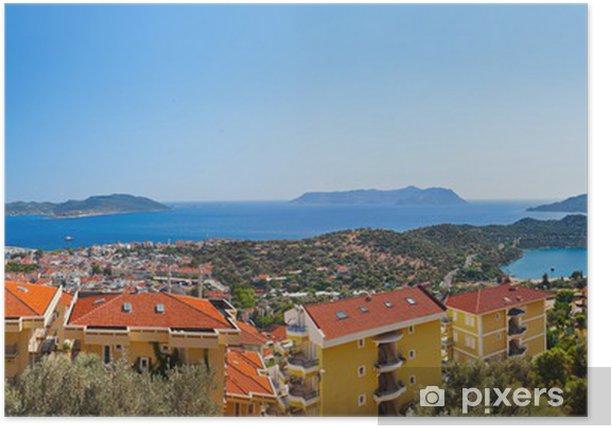 Poster Stadt Kas, Türkei - Urlaub