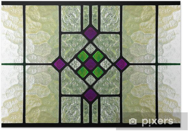 Poster Stained glass window - Texturen