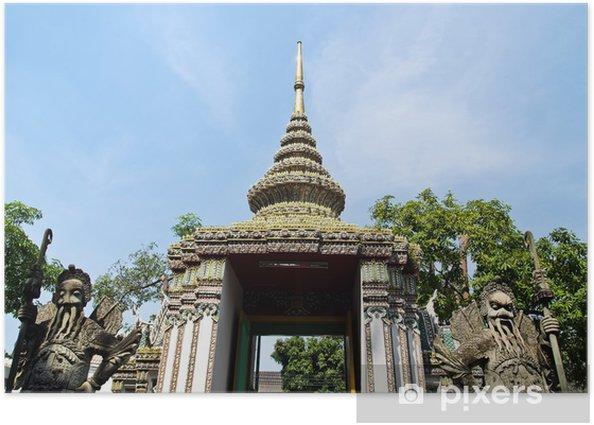 Poster Statua di pietra gigante di Wat Pho, Bangkok in Thailandia - Asia