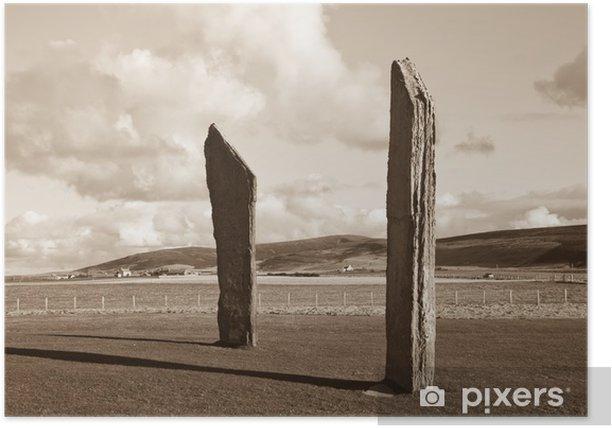 Poster Stehende Steine, Orkney - Europa