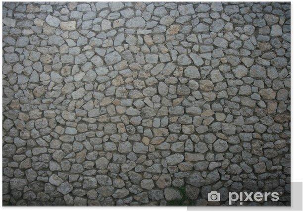 Poster Steinmauer Textur - Europa