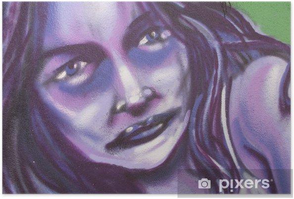 Poster Stiftung, Graffiti mujer, künstlerisch Bürger - Themen