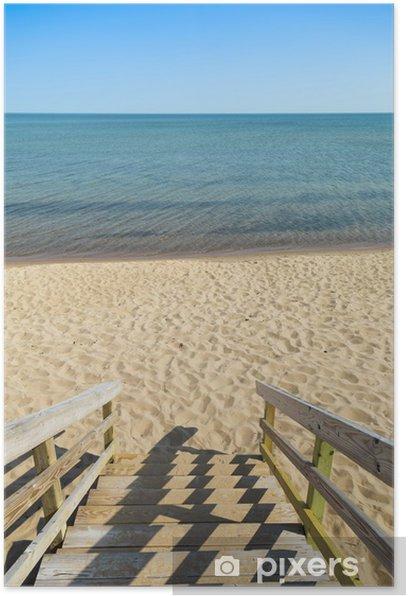 Poster Strand Schritte - Urlaub