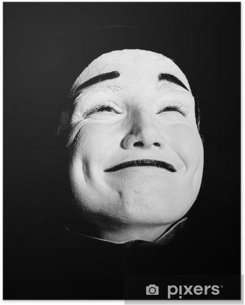 Poster Street mime. - Gesicht