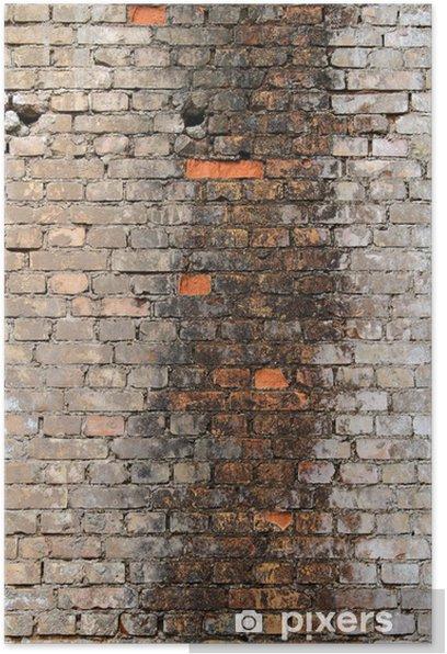 Poster Streifen in der Wand - Schwerindustrie