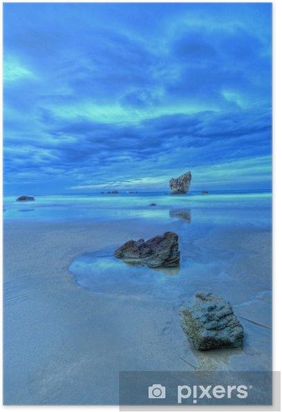 Poster Sunset in Asturien. - Naturwunder
