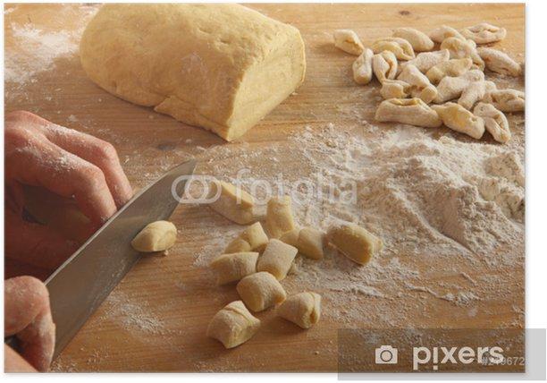 Poster Taglia Gnocchi - Pasta