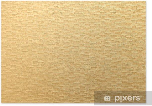 Poster Tan Papierbeschaffenheit - Zeichen und Symbole