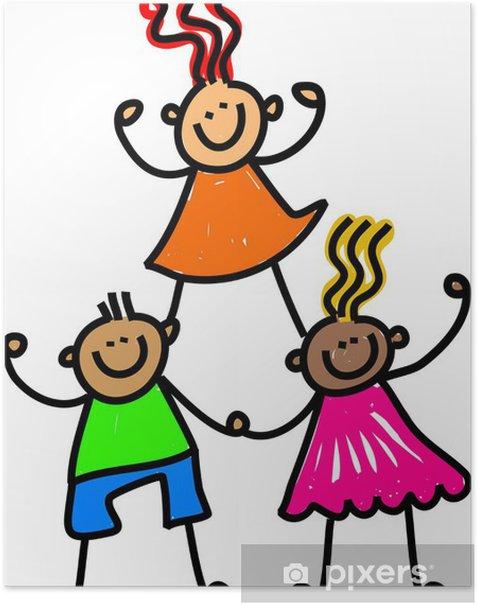 Poster Team von Happy Kids - Sonstige Gefühle