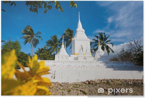 Poster Tempel in Koh Phangan - Asien