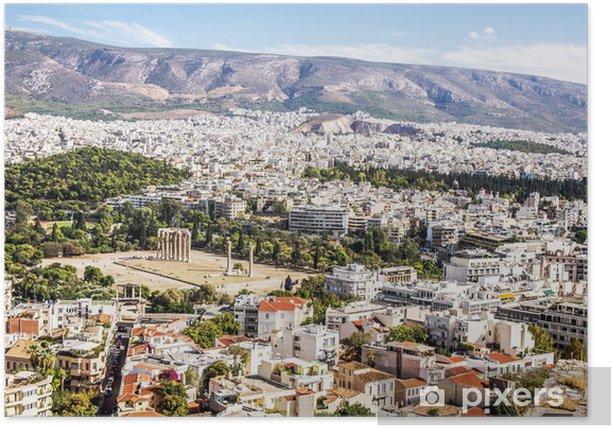 Poster Tempio di Zeus Olimpio - Città europee