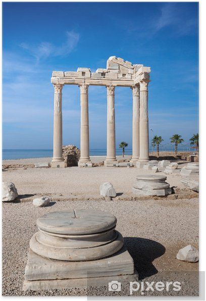 Poster Temple of Apollo Ruinen in Side Türkei. - Naher Osten