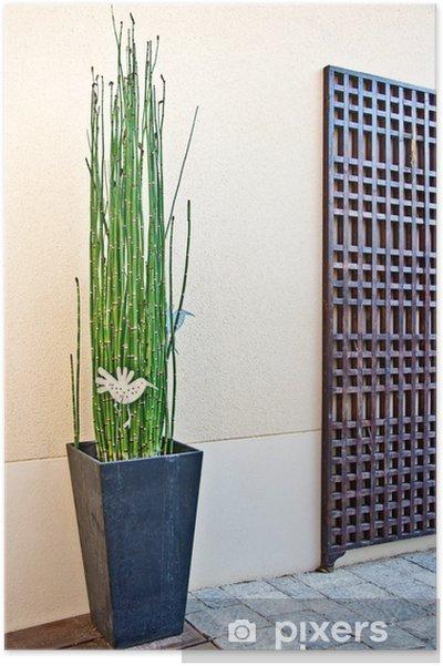 Poster Terrasse moderne Einrichtung zen • Pixers® - Wir leben, um zu ...