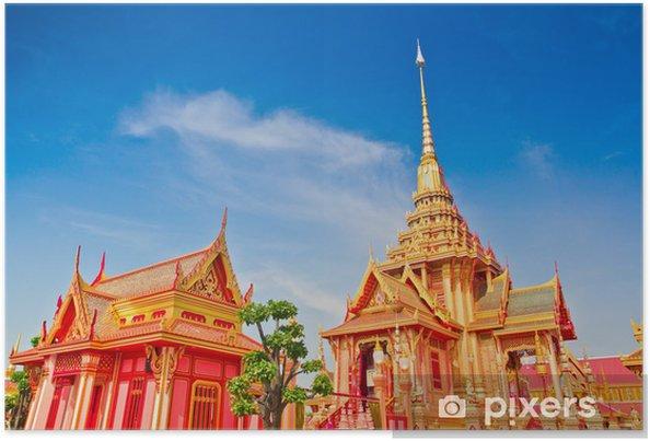 Poster Thai königliches Begräbnis in Bangkok von Thailand - Religion