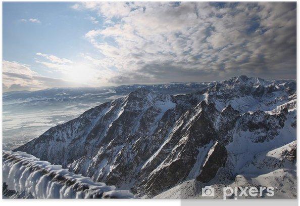 Poster Tolle Aussicht auf die Berge, die Schnee, Hohe Tatra, Slowakei - Themen