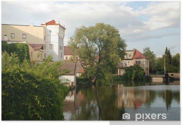 Poster Touristischen Blick auf Jurdruchuv Hradec, Czhech Republik - Europa