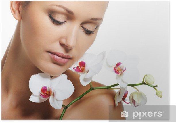 Poster Trattamento della pelle per bellezza donna adulta - Spazio da decorare