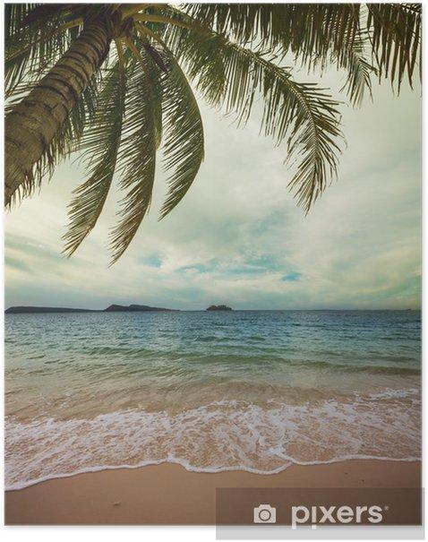 Poster Tropical beach - Urlaub