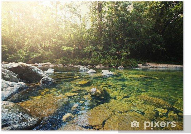 Poster Tropical Fluss - Wasser