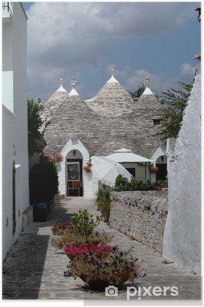 Poster Trulli Häuser in Alberobello, Italien - Europa
