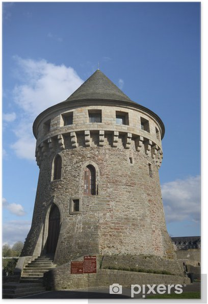Poster Turm Höhle, Brest, Finistere, Bretagne - Zeit