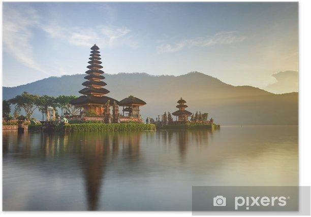 Poster Ulun Danu tempio sul lago Bratan, Bali, Indonesia - Laghi