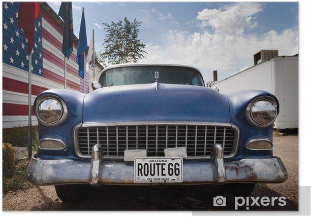 Poster USA Autofahne - Himmel