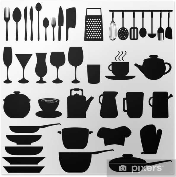 Poster Utensili da cucina e oggetti • Pixers® - Viviamo per il ...