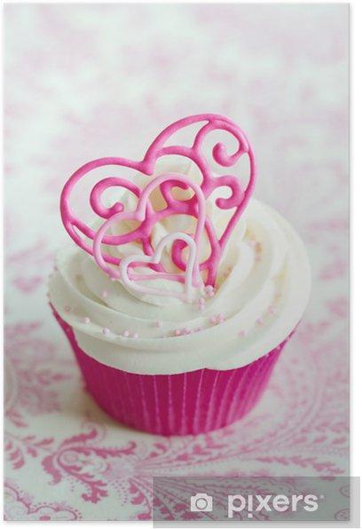 Poster Valentine Cupcake - Internationale Feste