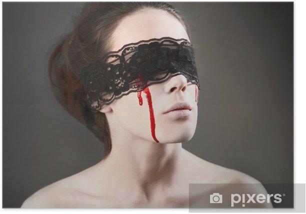 Poster Vampir mit schwarzer Spitze - Themen