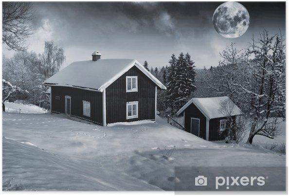 Poster Giganti Per Camere Da Letto : Poster vecchi casolari rurali e gigante di luna piena u2022 pixers