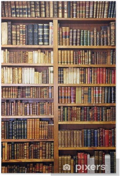 Poster Vecchi libri biblioteca - Piccola biblioteca