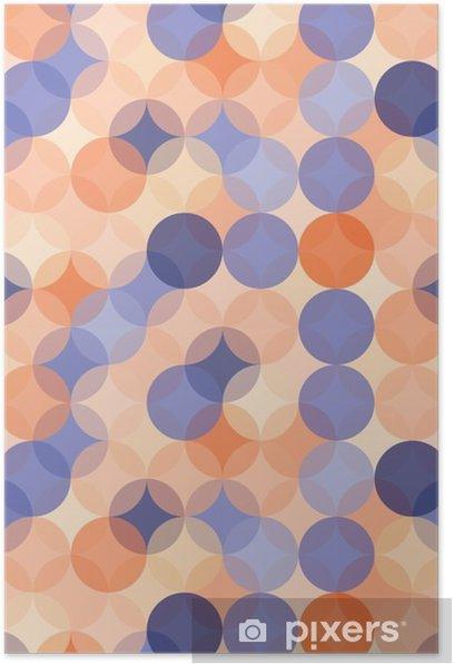 Poster Vector moderne nahtlose bunte Geometrie Muster Kreise, Farbe blau, orange, abstrakten geometrischen Hintergrund, Tapetendruck, retro Textur, hipster Mode-Design, __ - Grafische Elemente